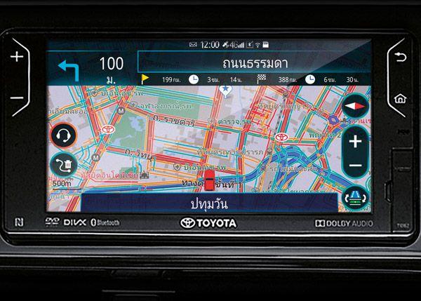หน้าจอระบบสัมผัส ขนาด 7 นิ้ว และเครื่องเล่น DVD/ CD/ MP3/ WMA พร้อมช่องเชื่อมต่อ USB/ HDMI/ MICRO SD CARD พร้อมระบบนำทาง รองรับเทคโนโลยี TELEMATICS