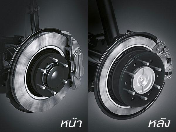 Front & Rear Disc Brake หน้า-หลัง ดิสก์เบรก 4 ล้อ เพิ่มความมั่นใจในทุกจังหวะเบรก