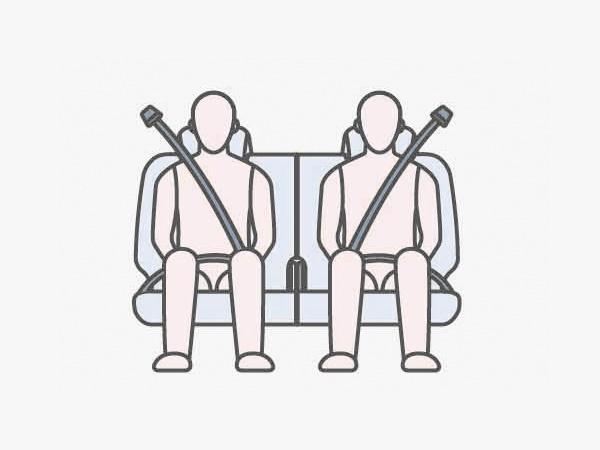 ELR Seatbelt 3 จุด 7 ที่นั่ง พร้อมระบบดึงกลับและผ่อนแรงอัตโนมัติสำหรับเบาะคู่หน้าช่วยลดความเสี่ยงจากอุบัติเหตุ