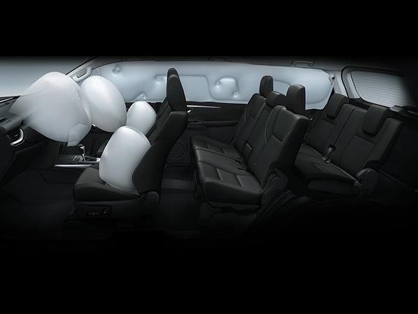 7 Airbags ถุงลมเสริมความปลอดภัย 7 ตำแหน่ง ปกป้องทั้งผู้ขับขี่และผู้โดยสารในทุกการเดินทาง