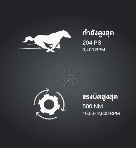 2.8 GD Engineเครื่องยนต์ดีเซล 2.8 ลิตร ให้กำลังสูงสุด 150 กิโลวัตต์ (204 แรงม้า) ที่ 3,400 รอบ/นาที แรงบิดสูงสุด 500 นิวตัน-เมตร ที่ 1,600 - 2,800 รอบ/นาที