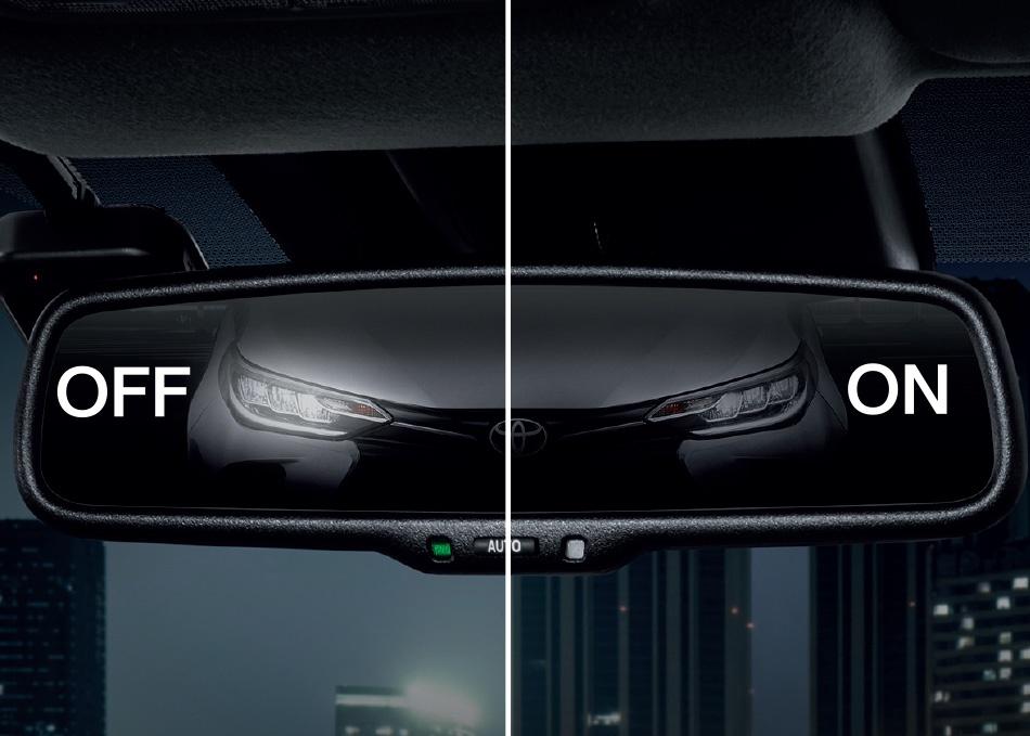 กระจกมองหลังแบบปรับลดแสงอัตโนมัติ (Electro Chromic)